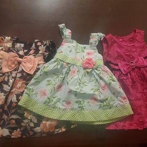 Bundle of 3 summer dress  size 6-9 months
